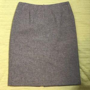 MaxMara Gray Dress Mid Length Skirt Size 6